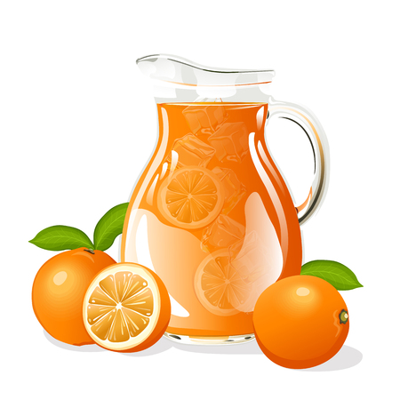 Jug of orange juice Иллюстрация