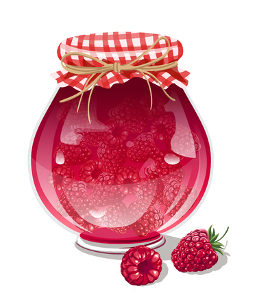 confiture: raspberry jam