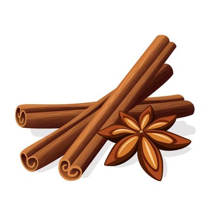 Cinnamon sticks and stars anise