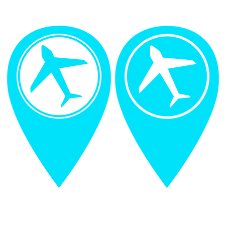 airport pin pointer in two color version Illustration