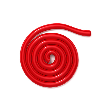Licorice candy wheels. 3D Illustration