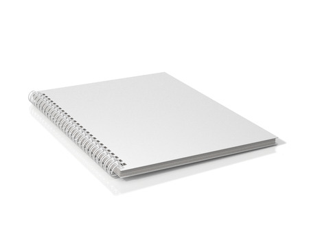 White spiral notebook. 3D Illustration.