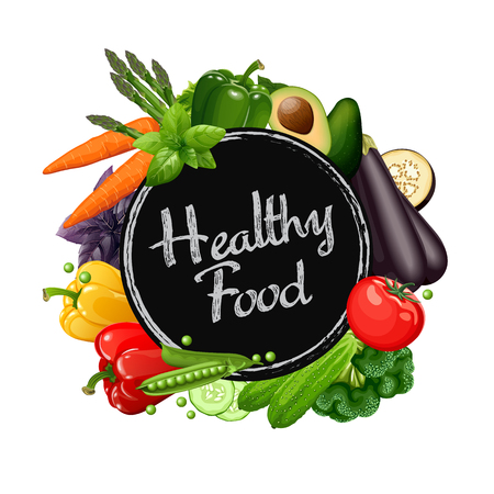 Healthy food collection. Vector illustration. Иллюстрация