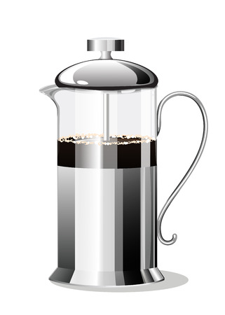 Coffee Making French Press. Vector illustration