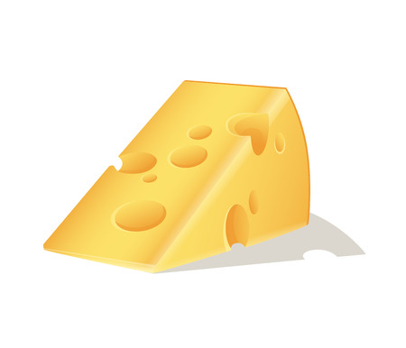 Swiss cheese block. Vector illustration