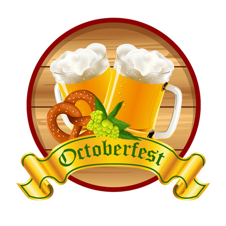 Octoberfest. Beer festival. Vector illustration. Иллюстрация