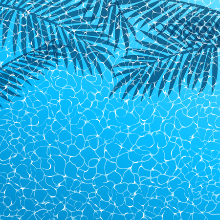 Realistic vector summer poster. Blue water top view. Reklamní fotografie - 111829486