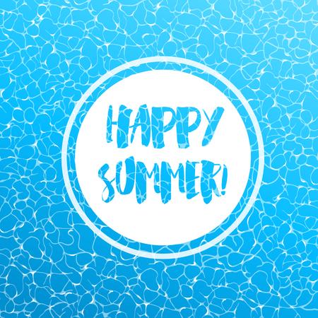 Realistic vector summer poster. Blue water top view. Reklamní fotografie - 111829503