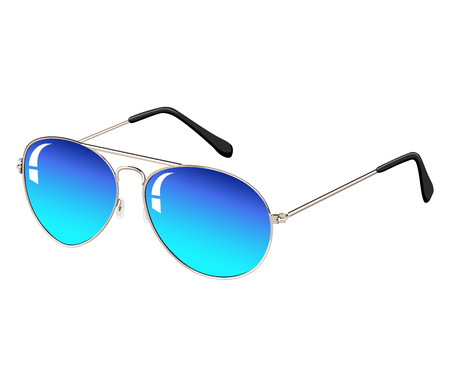 Sunglasses isolated on white background. Vector illustration. Standard-Bild - 111829521