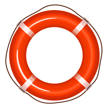 Vector red life buoy