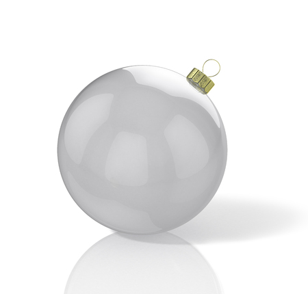 Transparent shiny christmas ball. 3D illustration