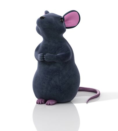 Mouse, rat realistic 3D Illustration.