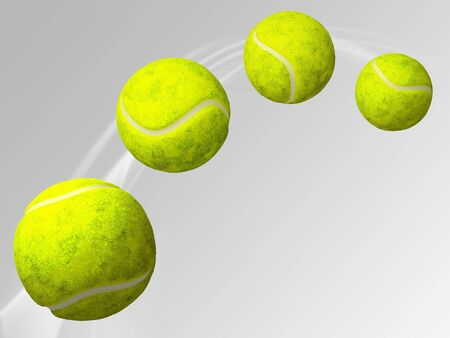 Flying tennis ball. 3D illustration. Reklamní fotografie