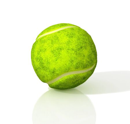 Tennis ball. 3D illustration.