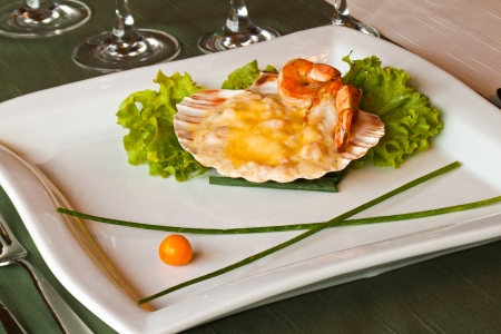 coquille: Coquille with shrimp and thyme