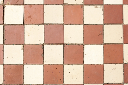 old cracked colored tiles Stock Photo