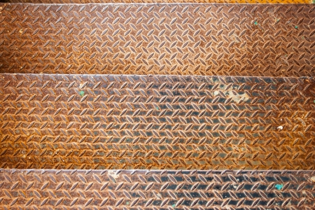three metal textured rusty yellow old stage Stock Photo