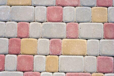 colored concrete floor tile bricks