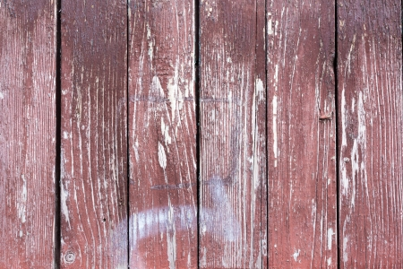 grungy texture of the old boards with shabby brown cherry paint