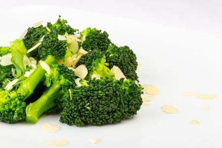 salad of broccoli and pumpkin seeds