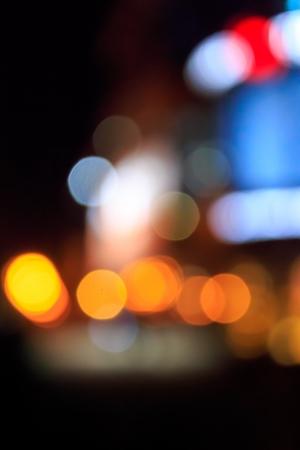 夜の街の抽象的なぼかしライト 写真素材