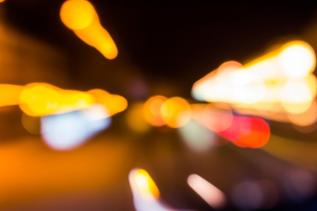 approximation of abstract color blast, of blurred city lights Stock Photo