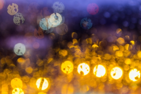 abstract light, blue and yellow blur cheese balls of different diameters Stock Photo