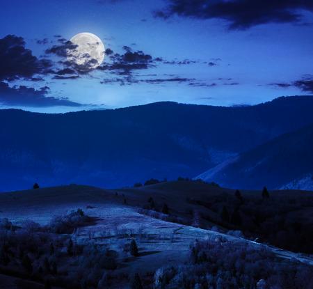 POEMAS SIDERALES ( Sol, Luna, Estrellas, Tierra, Naturaleza, Galaxias...) - Página 21 29119534-oto%C3%B1o-paisaje-de-monta%C3%B1a-pinos-cerca-de-la-pradera-y-el-bosque-en-la-ladera-bajo-el-cielo-con-las-nubes-en