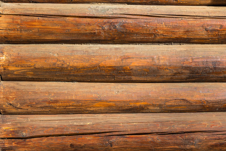 old red wooden blockhouse wall texture