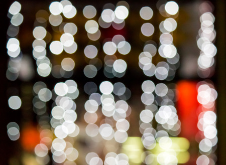 abstract background of blurred warm lights of restaurant  background with bokeh effect