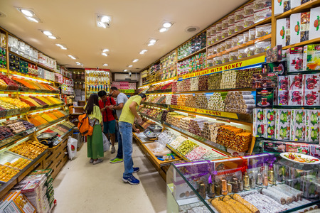 ISTANBUL - AUGUST 18: Grand Bazaar delight shop on August 18, 2015 in Istanbul. Delight shop of The Grand Bazaar in Istanbul, one of the largest and oldest covered markets in the world. Editorial