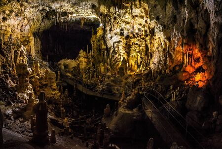 hall of Ursus spelaeus cave in noth-west romanian mountains bihor district transilvania