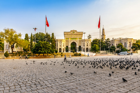 ISTANBUL - AUGUST 18: Istanbul University August 18, 2015 in Istanbul. Prominent Turkish university main campus being on Beyazıt Square in the district of Fatih  early in the morning