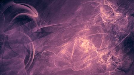 paarse buitenaardse ruimtedromen. samengestelde abstracte achtergrond. Esoterische fractal illustratie van de energiestroom van het universum Stockfoto