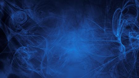 blauwe buitenaardse ruimtedromen. samengestelde abstracte achtergrond. Esoterische fractal illustratie van de energiestroom van het universum Stockfoto