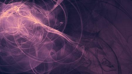 紫のエイリアン宇宙の夢。複合の抽象的な背景。難解なフラクタル宇宙エネルギーの流れの図