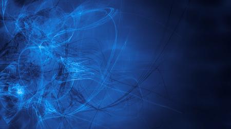 Blaue fremde Raumträume. Zusammengesetzte abstrakten Hintergrund. Esoterische Fraktal Illustration der Universum Energiefluss Standard-Bild - 80773401