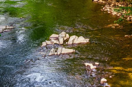 森川のカラフルな表面。自然石と水のテクスチャ背景 写真素材