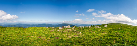 panorama of mountain. beautiful summer background on fine weather day Stock Photo