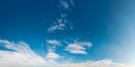 beautiful cloud formation panorama on a blue sky.