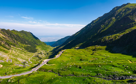 Transfagarasan road is gorgeous travel destination. lovely mountainous landscape and popular tourist attraction of Romania