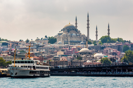 Istanbul, Turkey - AUG 18, 2015: Topkapi Palace view from the Bosforus Editorial