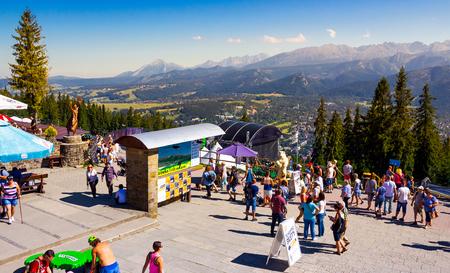 Zakopane, Poland: AUG 27, 2016: beautiful view from Gubalowka Park. High Tatra mountains in the distance Stock Photo - 101041538