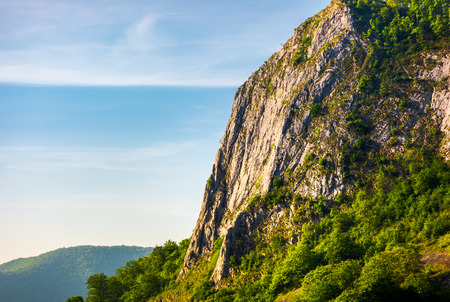 cliffs of Trascau mountains canyon. lovely scenery of Carpathian landscape in springtime. beautiful travel destination. location Cheile Valisoarei, Romania
