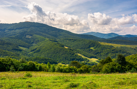 lovely Carpathian countryside in autumn. beautiful scenery of mountainous Volovets district, Ukraine