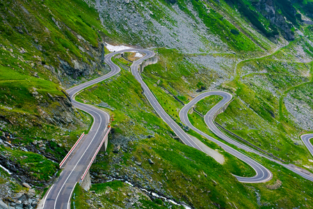 winding serpentine of the TransFagarasan road.