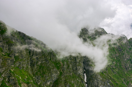 Mountainous landscape on a cloudy summer day. beautiful nature scenery on high altitude
