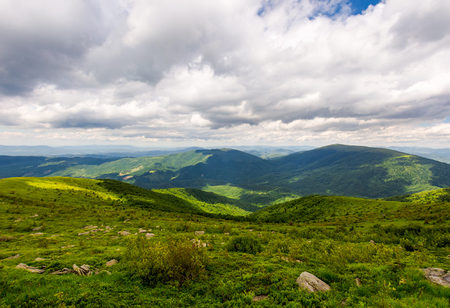 overcast sky over the mountains. beautiful summer landscape of Carpathians