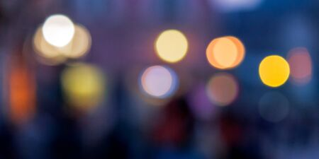 street background blur. city abstraction with bokeh effect Stock Photo - 136641208