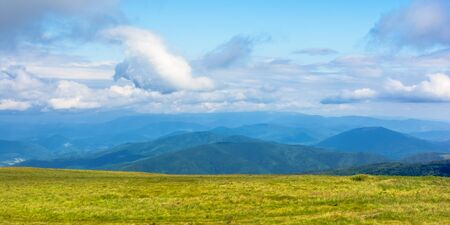 mountain landscape with clouds. beautiful summer scenery Stock Photo
